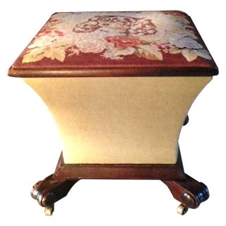 King Charles Spaniel Petit Point Ottoman Box