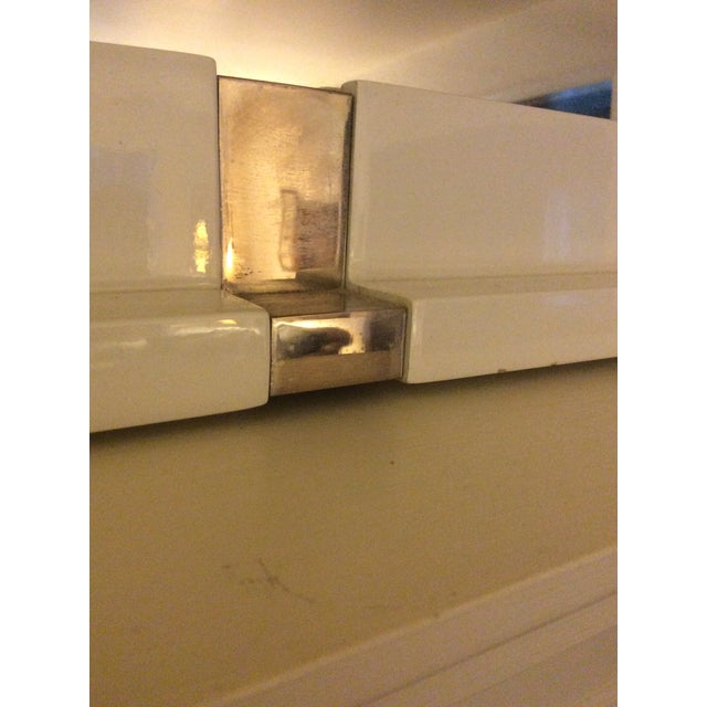 Laura Kirar White Lacquer Mirror - Image 6 of 7