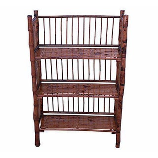 Bamboo 3 Tier Folding Bookcase