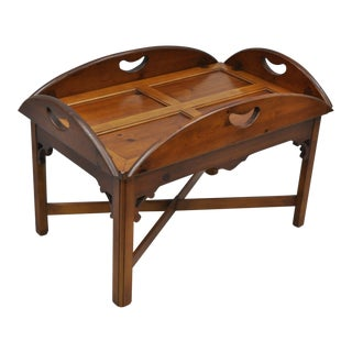 Vintage Thomasville Knotty Pine Wood Style Tray Table