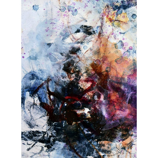 Abstract Mixed Media Painting - Untitled 7 - Image 2 of 2