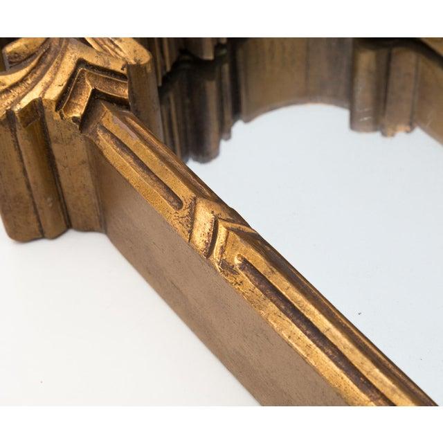 Large 1920s Ornate Giltwood Mirror Wall Niche Shelf - Image 9 of 11