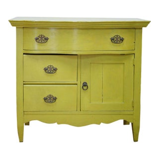 Vintage Green Side Table