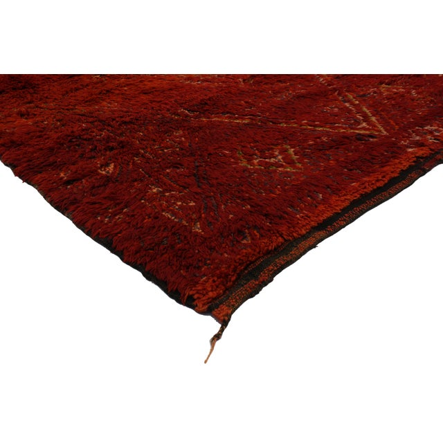 Vintage Berber Red Moroccan Rug 6 x 9 - Image 3 of 4