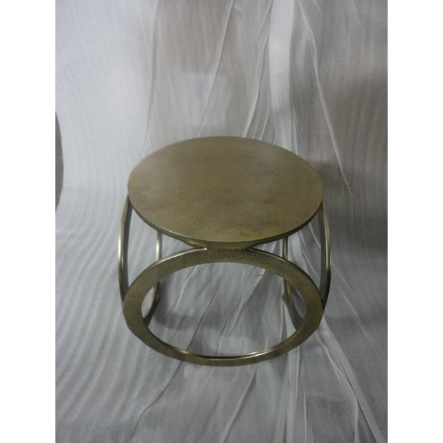 Aluminium Hammered Stool - Image 4 of 4