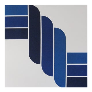 Mid-Century Modern Blue Rope Gallery Wrap Print