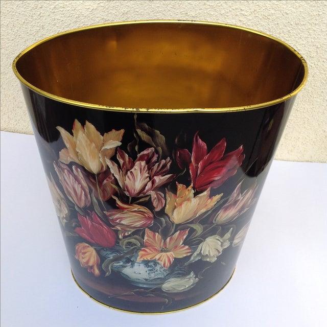 Vintage Tulip Wastebasket - Image 5 of 8