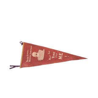 Antique Washing Baby Unusual Felt Flag