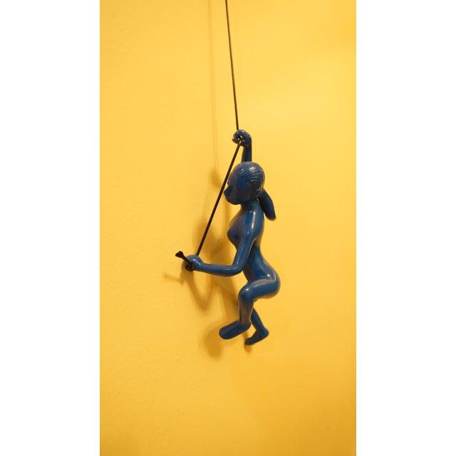 Blue Climbing Girl Wall Art - Image 3 of 5