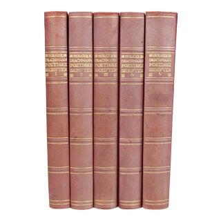 Antique Leather-Bound Books S/5