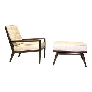 t.h. Robsjohn Gibbings for Widdicomb Lounge Chair & Ottoman