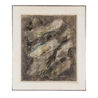 Abstract Composition, Oil on Canvas, British, 1952