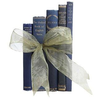 Vintage Poetry Books in Blue Gift Set - Set of 5