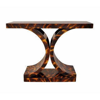 Vintage Faux Tortoiseshell Console Table