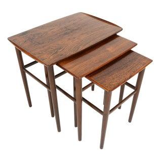 Danish Modern Brazilian Rosewood Nesting Tables