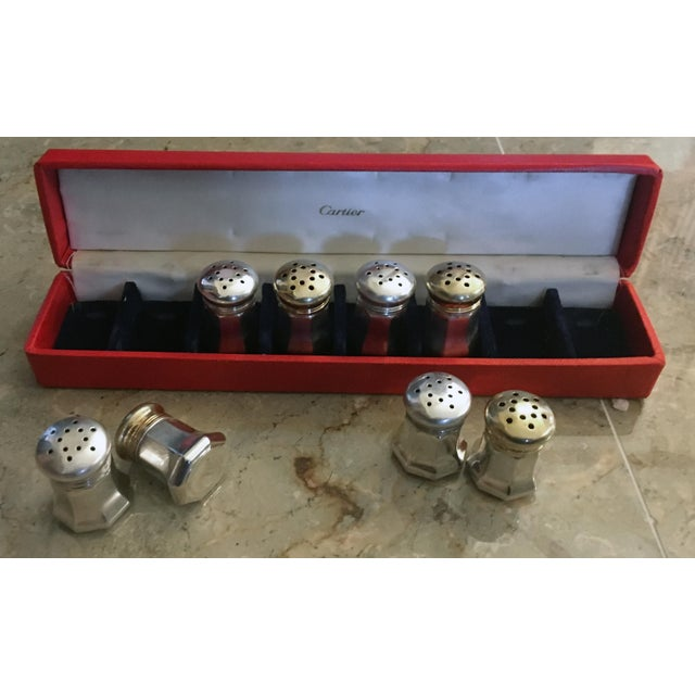 Cartier Sterling Silver Salt & Pepper Shakers - Set of 8 - Image 3 of 6