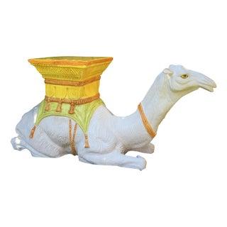 Vintage Italian Camel Garden Stool