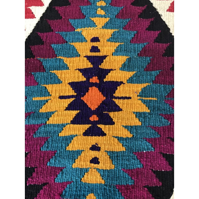 Turkish Anatolian Hand-Woven Wool Kilim Rug- 2′9″ × 4′4″ - Image 5 of 6