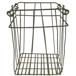 Vintage Tall Galvanized Wire Stackable Egg Crate