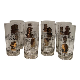 Classical Composers Glasses - Set of 8