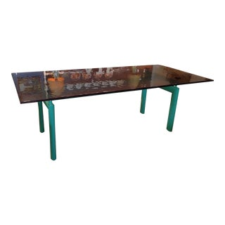 Limited Edition Green & Rose Glass Table