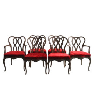 French Provincial Pretzel Back Dining Chairs - Set of 6