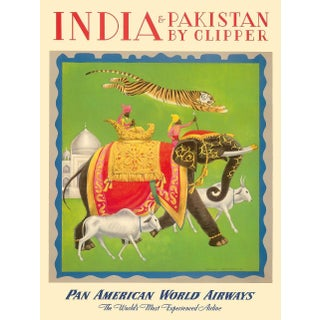 Framed Vintage Reproduction India Travel Poster