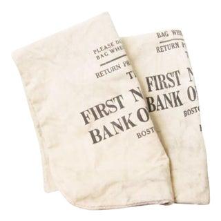 Vintage Canvas Coin Bags - a Pair