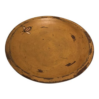 "Early American Style Wooden ""Bees"" Bowl"