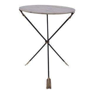 Italian Gueridon Style Marble Arrow Tripod Table