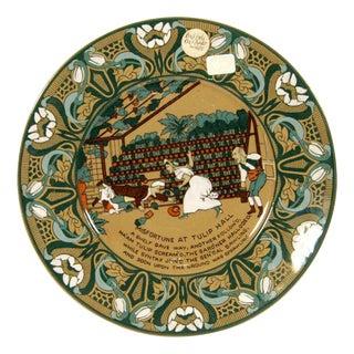"""Buffalo Pottery Deldare """"Misfortune at Tulip Hall"""" Plate"""