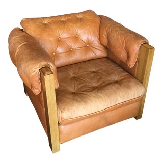 A. Brandt Leather Lounge Chair