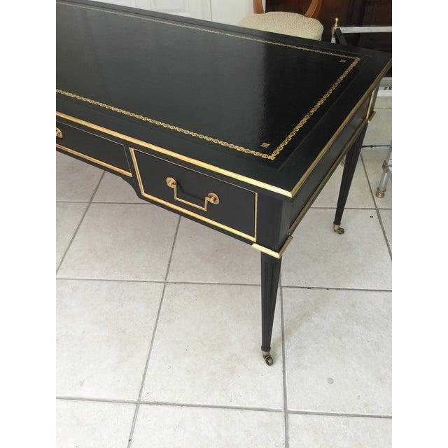 Baker Louis XVI Style Ebonized Gilt Writing Desk - Image 4 of 5
