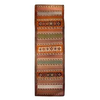 "Early 20th Century Zarand Kilim Carpet - 3'9"" x 11'7"""
