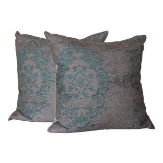 Turkish Rug Print Pillows - a Pair