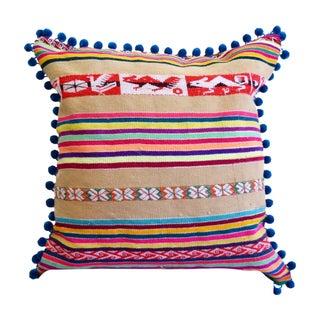 Peruvian Manta Pom Pom Pillow