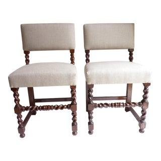 Barley Twist Side Chairs - a Pair