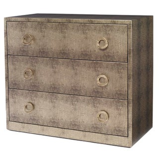 Kravet Camille Gray Textured Wrapped Chest