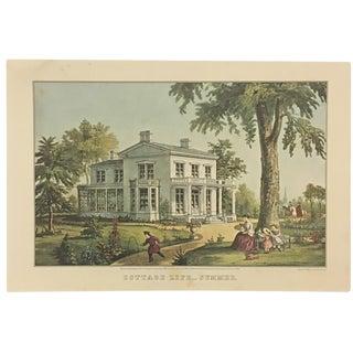 """""""Cottage Life - Summer"""" Vintage Print"""