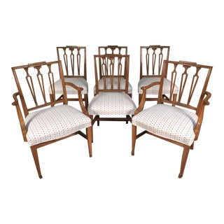 Mid Century Neoclassical Dining Chairs - Set of 6