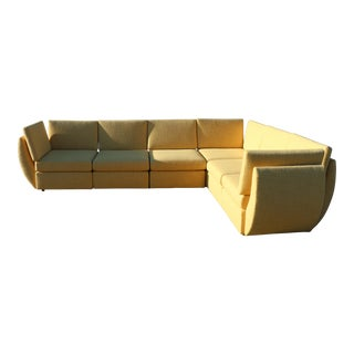 Beautiful 1960's Yellow Sectional