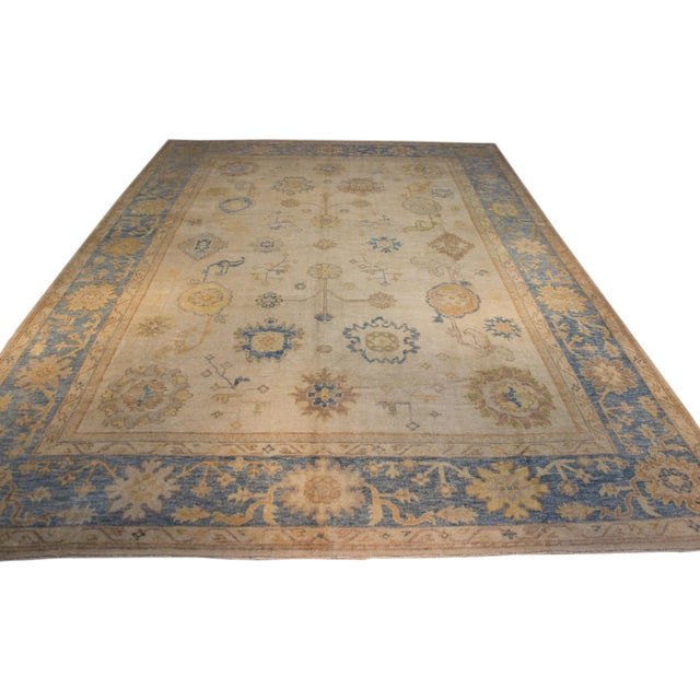 Turkish Anatolia Oushak Area Rug - 10' X 14' - Image 1 of 9