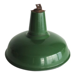 Green Enamel Industrial Barn Light Shade