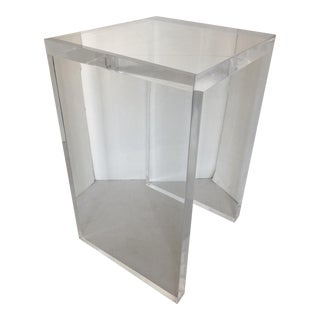 Massive Lucite Side Table