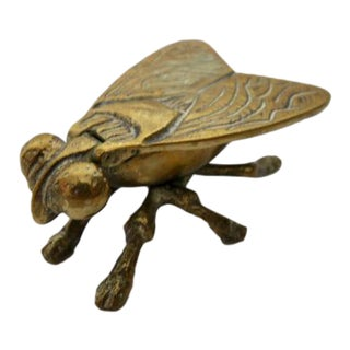 Vintage Brass Fly Trinket Dish