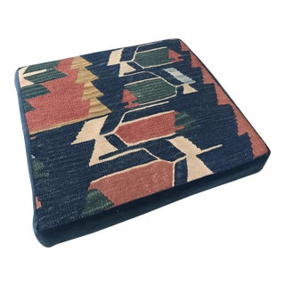Vintage Kilim & Velvet Floor Cushion