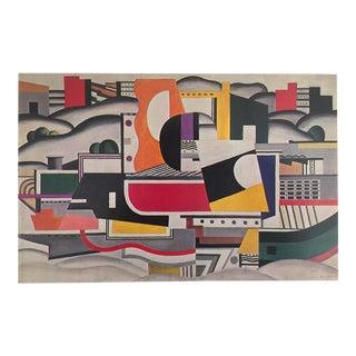 """Leger Original Vintage 1976 Modernist Lithograph Print """"The Big Barge"""" 1923"""