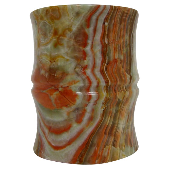 Carved Agate Pen Holder - Image 1 of 8