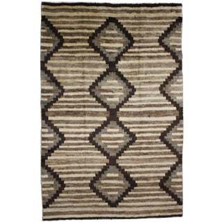 "Aara Rugs Inc. Hand Knotted Navajo Style Rug - 12'7"" X 9'6"""