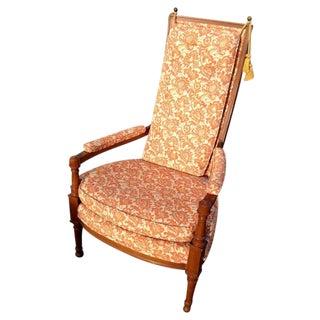 Vintage Orange Throne Chair W/Tassels